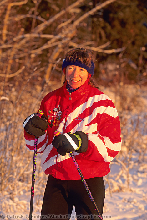 Dona Hawkins, Cross country skiing, ski trails at the University of Alaska, Fairbanks, Alaska