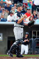 Cedar Rapids Kernels catcher Zach Wright #5 during a game against the Quad Cities River Bandits at Modern Woodmen Park on June 30, 2012 in Davenport, Illinois.  Quad Cities defeated Davenport 8-7.  (Mike Janes/Four Seam Images)