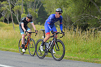 Jonathan Martin of Guam/EuroCyclingTrips - CMI Pro Cycling chases Marcus Culey  of Australia/Team Sapura Cycling at the finish of the KOM. Day one of the NZ Cycle Classic UCI Oceania Tour in Wairarapa, New Zealand on Wednesday, 15 January 2020. Photo: Dave Lintott / lintottphoto.co.nz