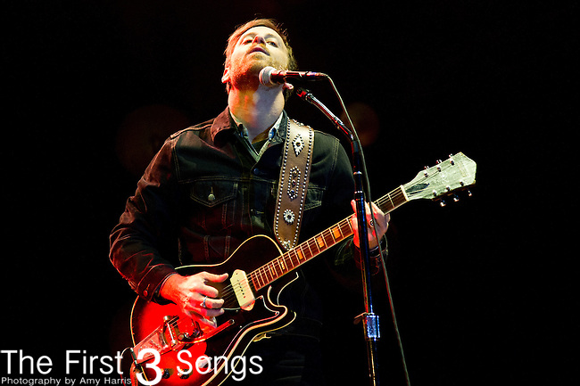 Dan Auerbach of The Black Keys performs during the The Beale Street Music Festival in Memphis, Tennessee.