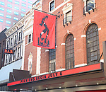"""Theatre Marquee unveiling  for  """"MJ The Musical"""" starring Ephraim Sykes at the Neil simon Theatre on January 24, 2020 in New York City."""
