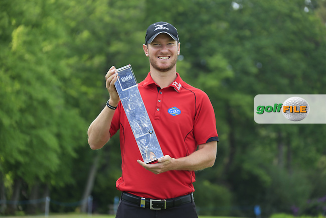 Chris Wood (ENG) winner of the 2016 BMW PGA Championship. Wentworth Golf Club, Virginia Water, Surrey, UK. 29/05/2016.<br /> Picture Fran Caffrey / Golffile.ie<br /> <br /> All photo usage must carry mandatory copyright credit (&copy; Golffile | Fran Caffrey)
