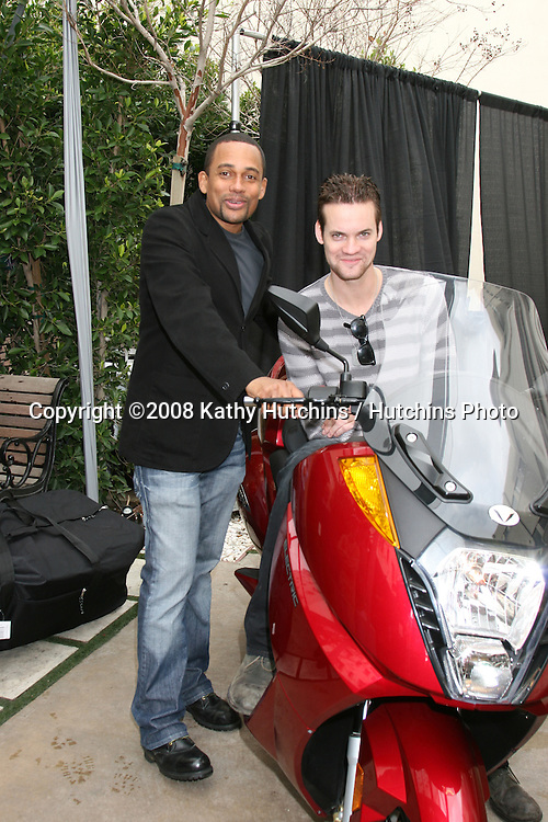 Hill Harper & Shane West.GBK Productions Oscar Gifting Suite.Boulevard3.Los Angeles, CA.February 22, 2008.©2008 Kathy Hutchins / Hutchins Photo....