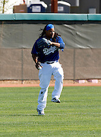 Manny Ramirez - Los Angeles Dodgers - 2009 spring training.Photo by:  Bill Mitchell/Four Seam Images