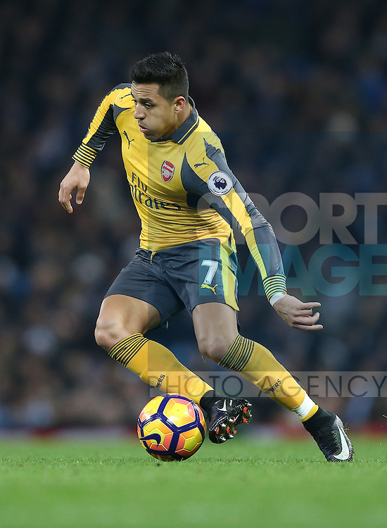 Alexis Sanchez of Arsenal during the English Premier League match at the Etihad Stadium, Manchester. Picture date: December 18th, 2016. Picture credit should read: Simon Bellis/Sportimage