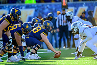 Morgantown, WV - NOV 10, 2018: A shot of the line of scrimmage during game between West Virginia and TCU at Mountaineer Field at Milan Puskar Stadium Morgantown, West Virginia. (Photo by Phil Peters/Media Images International)