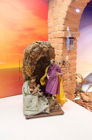 Presépio Gruta Napolitana, Giuseppe Gori e Lorenzo Mosca, século XVIII, Itália. Acervo do Museu de Arte Sacra de São Paulo, São Paulo - SP, 02/2012.