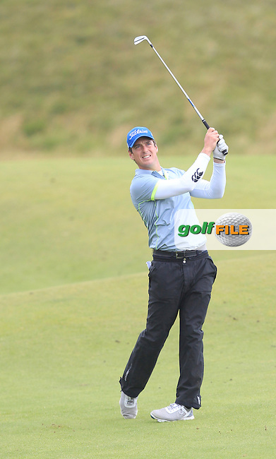 Colin Fairweather (Knock) on the 17th fairway during Matchplay Semi Final of the South of Ireland Amateur Open Championship at LaHinch Golf Club on Sunday 26th July 2015.<br /> Picture:  Golffile | TJ Caffrey