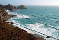 WATER BREAKING ALONG CALIFORNIA COAST<br /> Bridal Veil &amp; Bodega Bay