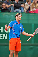 10-07-12, Netherlands, Den Haag, Tennis, ITS, HealthCity Open,  Thiemo de Bakker   is frustrated