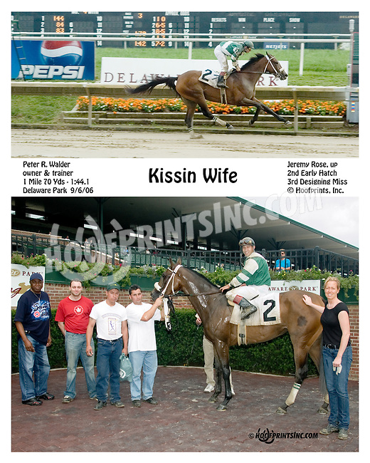 Kissin Wife winning at Delaware Park on 9/6/06