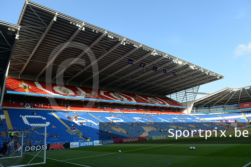 20170601 - CARDIFF , WALES : Illustration picture of the stadium before a womensoccer match between the teams of  Olympique Lyonnais and PARIS SG, during the final of the Uefa Women Champions League 2016 - 2017 at the Cardiff City Stadium , Cardiff - Wales - United Kingdom , Thursday 1  June 2017 . PHOTO SPORTPIX.BE | DAVID CATRY