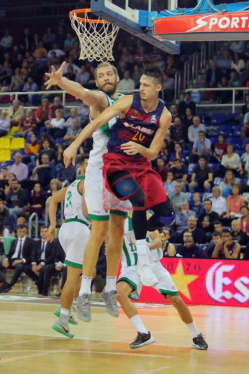 League ACB-ENDESA 2016/2017. Game: 5.<br /> FC Barcelona Lassa vs BEP-Real Betis Energia Plus: 80-58.<br /> Luka Zoric vs Marcus Eriksson.