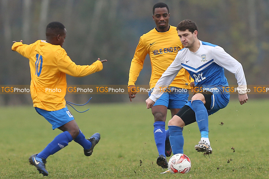 FC Krystal (blue/white) vs Mile End, Hackney & Leyton Sunday League Football at Hackney Marshes on 18th December 2016