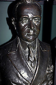 Rio de Janeiro, Brazil. Bust of Getulio Vargas, President of Brazil from 1930 to 1945 and 1950 to his suicide in 1954.