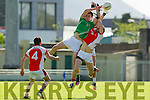Jack Berry St Brendans in action against Donal O'Sullivan Rathmore in the  Kerry County Football Championship on Saturday.