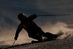 22.10.2010, Rettenbachferner, Soelden, AUT, FIS World Cup Ski Alpin, Lady, Soelden, im Bild A silhouette of Julia Mancuso, EXPA Pictures © 2010, PhotoCredit: EXPA/ M. Gunn