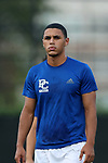 DURHAM, NC - SEPTEMBER 05: Presbyterian's Yacine Tchemmoun (CAN). The Duke University Blue Devils hosted the Presbyterian College Blue Hose on September 5, 2017 at Koskinen Stadium in Durham, NC in a Division I college soccer game. The game ended in a 1-1 tie after two overtimes.
