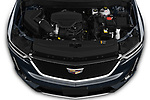Car stock 2020 Cadillac XT6 Sport 5 Door SUV engine high angle detail view
