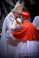 New Cardinal, Portuguese prelate Jose Tolentino Mendonca, during an Ordinary Public Consistory for the creation of new cardinals on October 5, 2019 in the Vatican. Pope Francis appoints 13 new cardinals at the 2019 Ordinary Public Consistory, choosing prelates whose lifelong careers reflect their commitment to serve the marginalized and local church communities, hailing from 11 different nations and representing multiple religious orders.