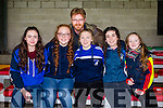 St. Mary's fans, Cahersiveen pictured at, the, football intermediate club championship semi-final, at the Gaelic Grounds, Limerick on Sunday, were front l-r: Kelsey McCarthy, Sarah Landers. Back l-r: Alan Landers, Sadhbh O'Shea, Sarah McCarthy and Catherine O'Connell.