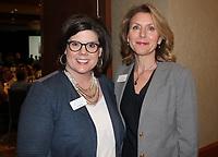 NWA Democrat-Gazette/CARIN SCHOPPMEYER Jill Wagar (left) and Diane Carroll attend the Success Stories brunch.