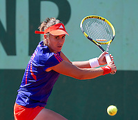 Annabel Medina Garrigues..Tennis - Grand Slam - French Open- Roland Garros - Paris - Mon May 28th 2012...© AMN Images, 30, Cleveland Street, London, W1T 4JD.Tel - +44 20 7907 6387.mfrey@advantagemedianet.com.www.amnimages.photoshelter.com.www.advantagemedianet.com.www.tennishead.net