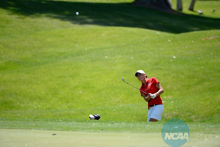 27 APR 2013: Athletes compete during the Mountain West Conference Women's Golf Championship held at the Mission Hills Country Club in Rancho Mirage, CA. Brett Wilhelm/NCAA Photos