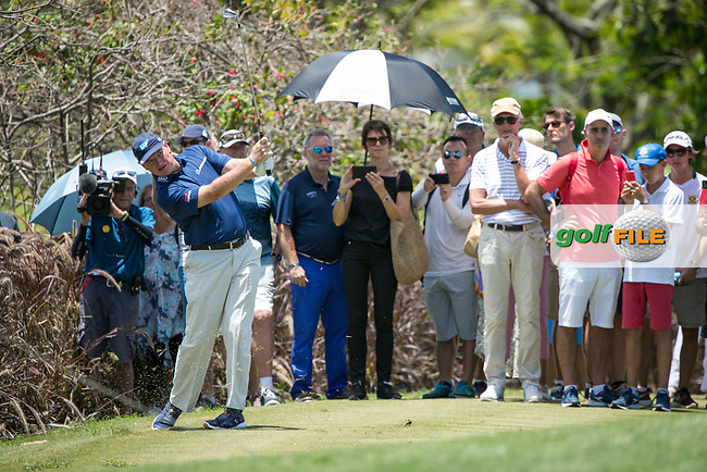 Ernie Els (RSA) during the 1st round of the AfrAsia Bank Mauritius Open, Four Seasons Golf Club Mauritius at Anahita, Beau Champ, Mauritius. 29/11/2018<br /> Picture: Golffile | Mark Sampson<br /> <br /> <br /> All photo usage must carry mandatory copyright credit (© Golffile | Mark Sampson)
