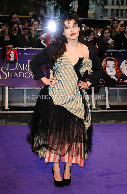 WWW.ACEPIXS.COM . . . . .  ..... . . . . US SALES ONLY . . . . .....May 9 2012, London.... Helena Bonham Carter at the premiere of 'Dark Shadows' held at The Empire Cinema on May 9 2012 in London ....Please byline: FAMOUS-ACE PICTURES... . . . .  ....Ace Pictures, Inc:  ..Tel: (212) 243-8787..e-mail: info@acepixs.com..web: http://www.acepixs.com
