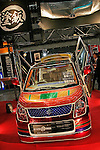 Jan 15, 2010 - Chiba, Japan - A Suzuki Wagon R customized by Net Nara company is displayed during the Tokyo Auto Salon 2010 in Chiba, suburb Tokyo, on January 15, 2010. More than 400 companies, associations and groups are displaying more than 600 custom vehicules in the Japan's biggest tuning show which takes place between January 15 and 17. (Photo Laurent Benchana/Nippon News)