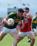 2-7-2017: Kerry's Michael Geaney and Cork's Sean Powter in action at the Kerry V Cork Munster Football final in Killarney on Sunday.<br /> Photo: Don MacMonagle