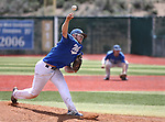 Western Nevada's Josh Mill pitches against Utah State University Eastern at WNC in Carson City, Nev., on Friday, April 29, 2016.<br />Photo by Cathleen Allison