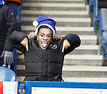 01.12.2019 Rangers v Hearts: A young Rangers supporter celebrates after his hero Alfredo Morelos scores
