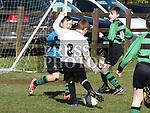 Square United's Callum Caffrey scores. Photo:Colin Bell/pressphotos.ie