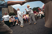 (950601-SWR01) BROOKLYN, NEW YORK -- File Photo -- Senior Russian Emigrees dance at a Jewish Pride Street Festival in Brighton Beach..Photo  © Stacy Walsh Rosenstock
