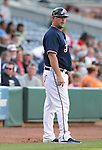 Reno Aces Manager Phil Nevin works a game against the Omaha Storm Chasers, in Reno, Nev., on Sunday, Aug. 24, 2014.<br /> Photo by Cathleen Allison