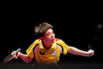 Yuling Zhu of China vs Cheng I-ching of Taiwan at their Women's Singles Quarter Final match during the Seamaster Qatar 2016 ITTF World Tour Grand Finals at the Ali Bin Hamad Al Attiya Arena on 9 December 2016, in Doha, Qatar. Photo by Victor Fraile / Power Sport Images