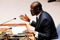 Mali's Foreign Minister Abdoulaye Diop speaks to Members of the Security Council related to the precarious security situation in Mali, at the United Nations Headquarter in New York, 01/11/2016 Photo by VIEWpress