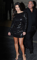Kim Kardashian pictured at the Kardashian Kollection launch. The event was to promote their new fashion range for high street chain Dorothy Perkins held at Aqua, London. Uk 08/11/2012.<br />