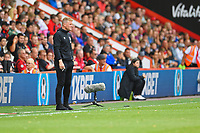 AFC Bournemouth Manager Eddie Howe watches on during AFC Bournemouth vs Sheffield United, Premier League Football at the Vitality Stadium on 10th August 2019