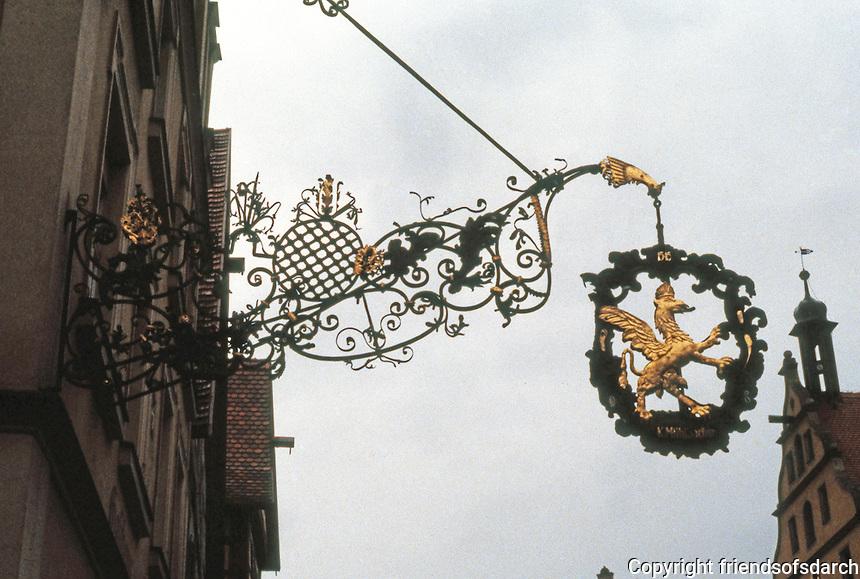 Rothenburg: Wrought iron, gilt sign.