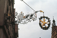 Rothenburg: Wrought iron, gilt sign.