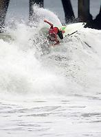 Brett Simpson. 2009 ASP WQS 6 Star US Open of Surfing in Huntington Beach, California on July 25, 2009. ..