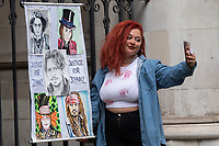 London, UK - 28 July 2020<br /> Johnny Depp fan at The Royal Courts of Justice at the end of libel trial against The Sun, a tabloid newspaper.  <br /> CAP/JOR<br /> ©JOR/Capital Pictures
