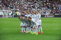 Cardiff City Stadium, Cardiff, South Wales - Tuesday 12th Aug 2014 - UEFA Super Cup Final - Real Madrid v Sevilla - <br /> <br /> The Real Madrid team<br /> <br /> <br /> <br /> Photo by Jeff Thomas/Jeff Thomas Photography
