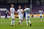 16.07.2017, Stadion an der Bremer Bruecke, Osnabrueck, GER, FSP VfL Osnabrueck vs SV Werder Bremen<br /> <br /> im Bild<br /> Zlatko Junuzovic (Werder Bremen #16) bejubelt seinen Treffer zum 0:2 mit Aron J&oacute;hannsson / Johannsson (Werder Bremen #9) und Johannes Eggestein (Werder Bremen #24), <br /> <br /> Foto &copy; nordphoto / Ewert