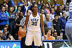 24 January 2016: Duke's Amber Henson. The Duke University Blue Devils hosted the University of North Carolina Tar Heels at Cameron Indoor Stadium in Durham, North Carolina in a 2015-16 NCAA Division I Women's Basketball game. Duke won the game 71-55.