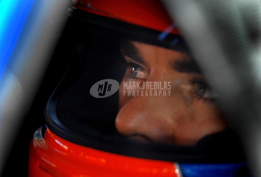 Oct 12, 2006; Concord, NC, USA; Nascar Nextel Cup driver Jeff Gordon (24) during practice for the Bank of America 500 at Lowes Motor Speedway. Mandatory Credit: Mark J. Rebilas