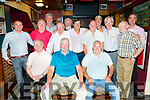 Members of the Greyhound Bar Golf Society pictured in the Greyhound Bar on Saturday night after enjoying the day golfing in the Ballyheigue Golf course.<br /> Seated l to r: Denis O'Sullivan, Marvin Griffin and Martin Farrell.<br /> Back l to r: Padraig Tehan, John Burrows, Anthony O'Connor, PJ Murphy, John O'Connell, terry Nammock, John Irwin, Aidan O'Connor, Sean Reidy and Mark Tehan.